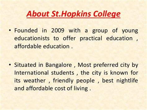 Of Mba In Marketing Cost For Residents by About St Mba College Bangalore