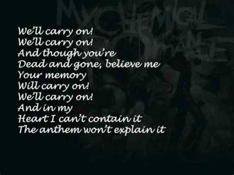 black parade lyric welcome to the black parade lyrics my chemical romance