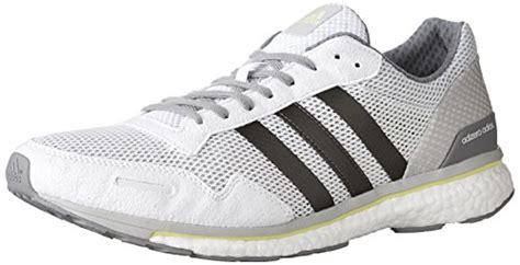 adidas s adizero adios m running shoe white trace grey metallic solar yellow 115 m us