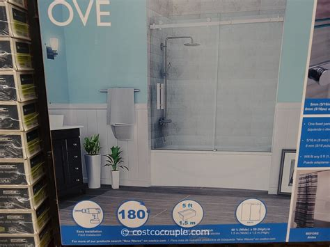 ove bathtub doors ove shower enclosure ove decors granada 5825in to 59in w frameless polished chrome