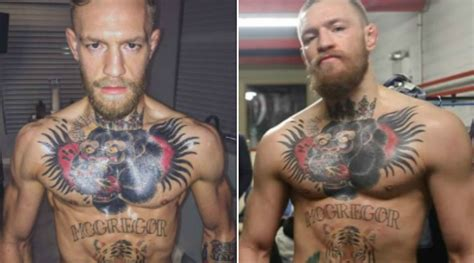 conor mcgregor before and after having jumped two weight