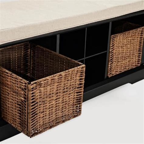 black wooden storage bench black wood emlyn entryway storage bench world market