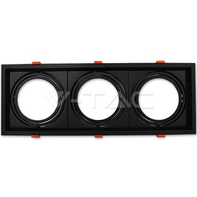 Fitting Lu Downlight dicroicas led soporte 3 x ar111 soporte negro