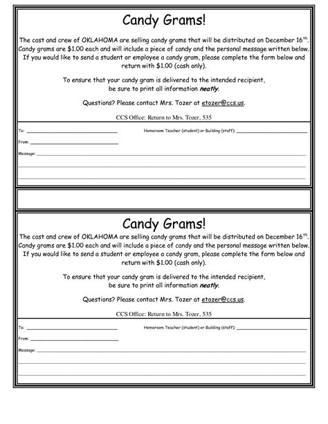 7 best images of printable candy gram template valentine