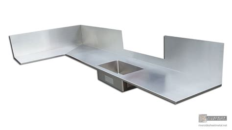 stainless steel sink and counter counter top with integral sink installed counter tops