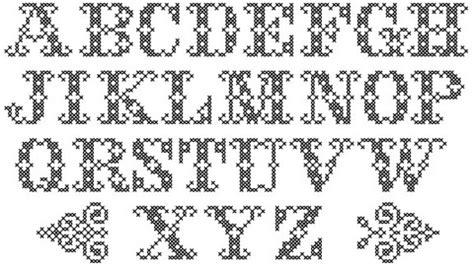 pattern typeface download uppercase decoration subversive cross stitch free
