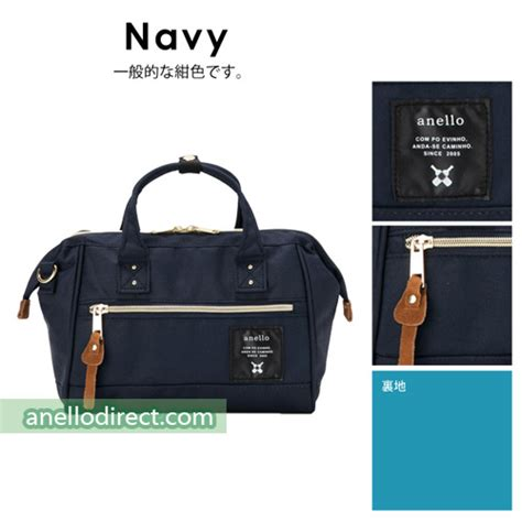 Shoulder Bag Polyester Button Navy anello polyester canvas 2 way shoulder bag mini size at h0851
