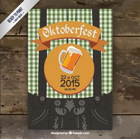 Kostenlose Vorlage Oktoberfest Oktoberfest Flyer Der Kostenlosen Vektor
