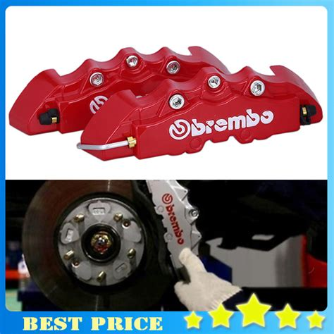 Handfat Universal Brembo Crom free shipping brand new 2pair car auto disc brake caliper cover 3d brembo brake universal kit