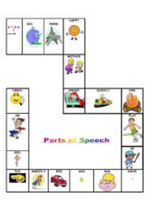 printable articulation board games english teaching worksheets parts of speech
