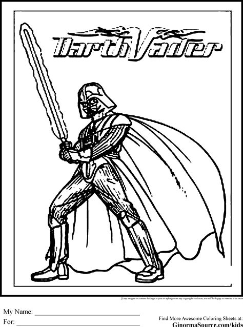 star wars coloring pages darth vader coloring pages
