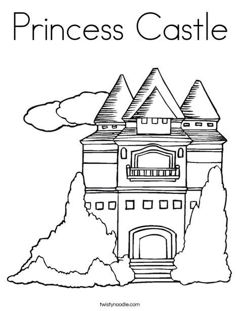 coloring page of a princess castle princess castle coloring page twisty noodle