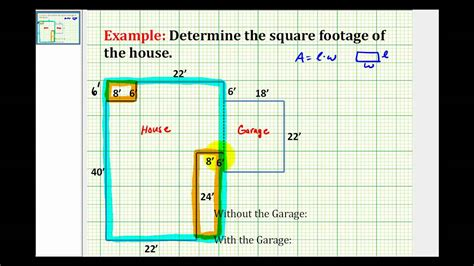 how to calculate dimensions from square feet ex find the square footage of a house youtube
