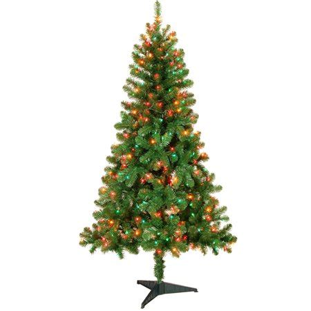 colorado pine or aster pine artificial christmas tree time pre lit 6 colorado pine artificial tree multicolor lights walmart
