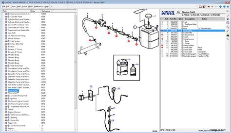 penta epc ii marine  industrial engine  software