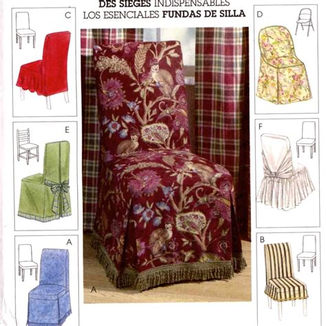 decor chair covers home decor sewing pattern mccalls 4404 0r