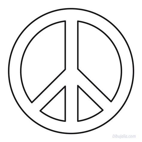 imagenes de simbolos hippies simbolo paz dibujalia dibujos para colorear paz y no