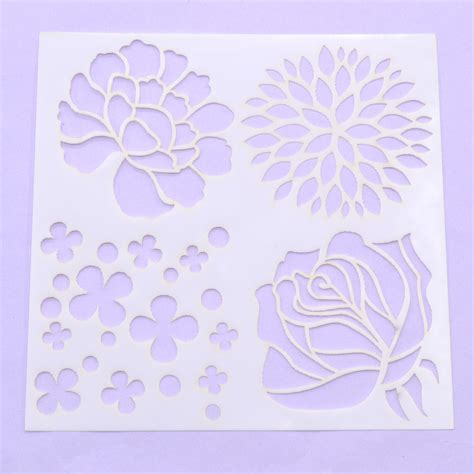 scrapbooking stencils and templates flower layering stencils template diy