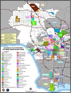 Chicago Gang Territory Map by Map Of Lapd Citywide Gang Injunctions Via L A Taco Tags