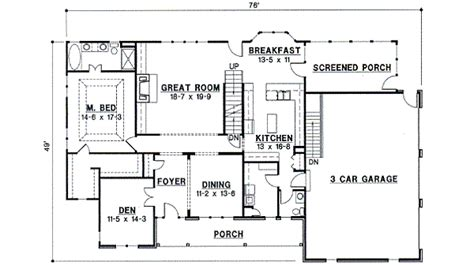 Country Style House Plan 4 Beds 3 Baths 3000 Sq Ft Plan 3000 Square Foot Country House Plans