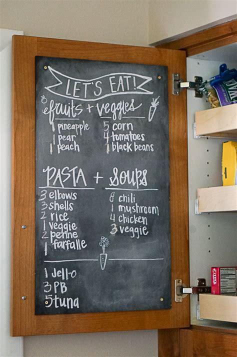 Menu Chalkboard For Kitchen by Pantry Chalkboard Organization Diana Elizabeth