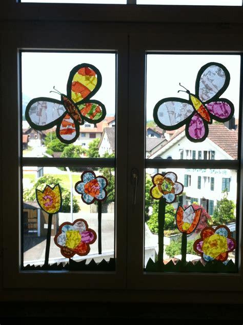 Fensterdeko Weihnachten Schule by Fensterbild Schmetterling Fr 252 Hling Basteln