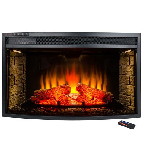 akdy 33 in freestanding electric fireplace insert heater