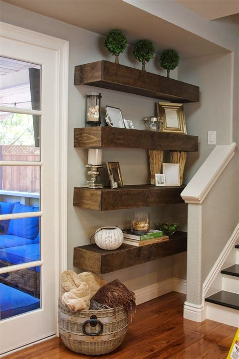 how to decorate floating shelves in living room simple diy floating shelves tutorial decor ideas diy and crafts house and living rooms