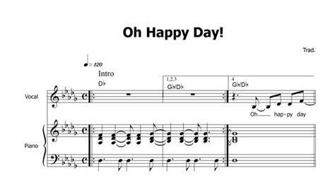 oh happy day testo pin noten oh happy day musiknoten on