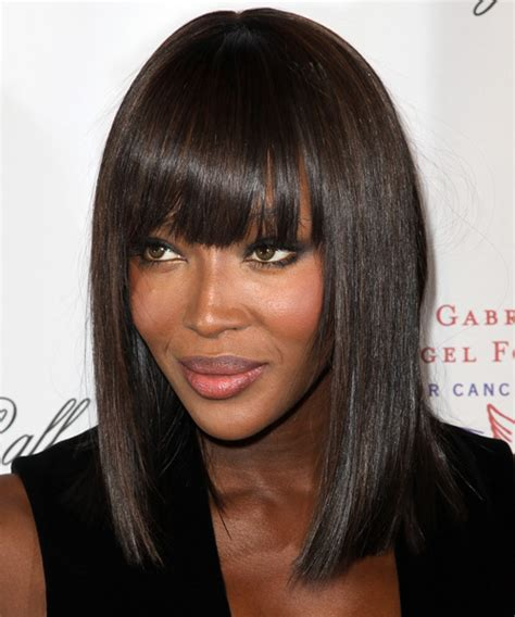 naomi cbell hairstyle bangs pictures naomi cbell medium straight formal bob hairstyle with