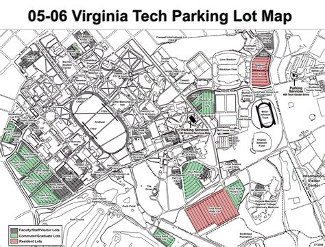 virginia tech map viginia tech parking map blacksburg va mappery