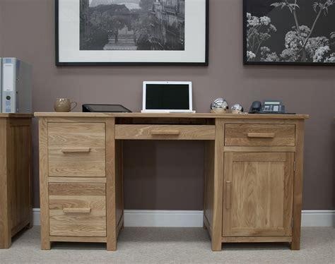 large solid oak desk opus solid oak large pedestal desk oak furniture uk