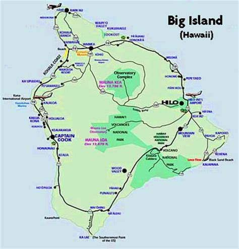 printable road map of big island hawaii big island visitor magazine big island maps