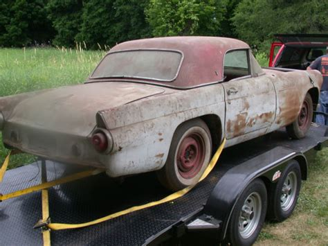 1955 ford t bird for sale 1955 ford t bird thunderbird base conv barn find
