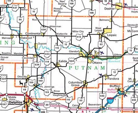 Putnam County Search Putnam County Ohio Map Ohiobiz