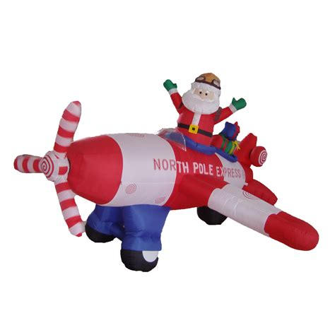 animated santa driving bzb goods animated santa claus driving airplane decoration reviews
