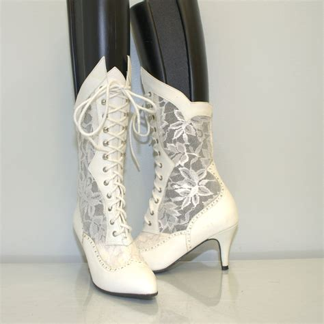 lace boots style lace boots vintage 1980s boots