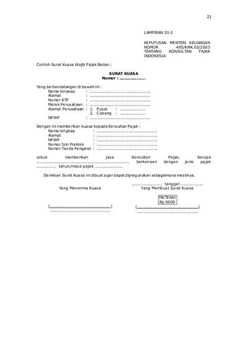 format lop pelaporan spt contoh surat kuasa jabatan gambar con