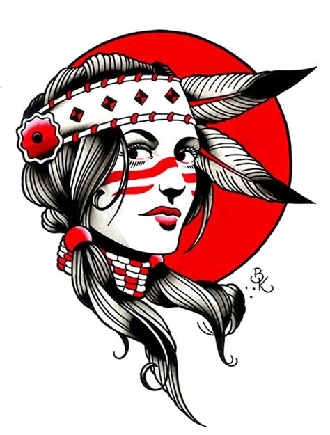 tribal chief tattoo indian by brian american canvas