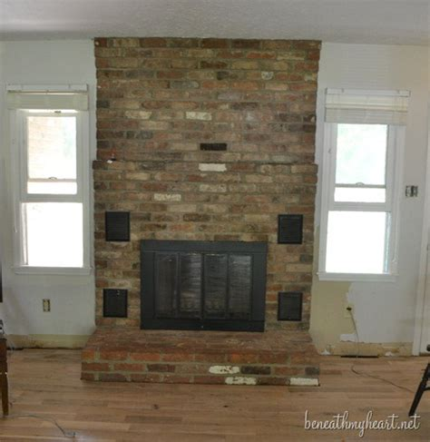 fireplace makeover reveal beneath my