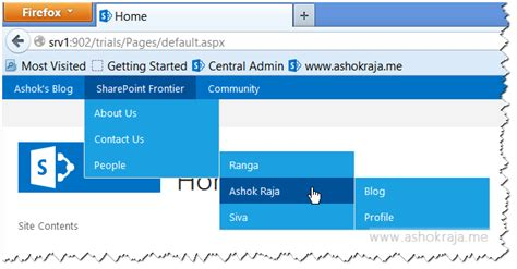 sharepoint 2013 top navigation bar menu
