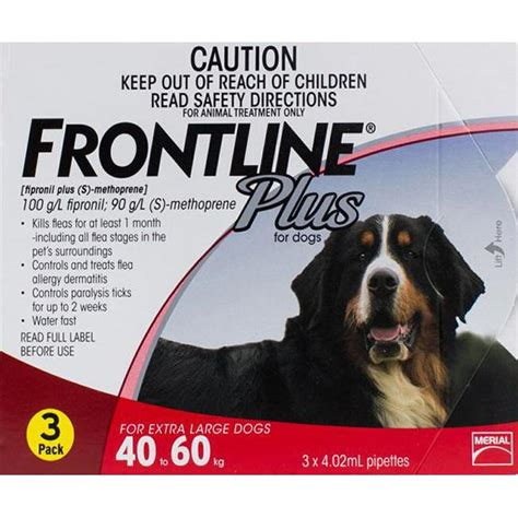 xl dogs frontline plus xl dogs 88 132lbs 40 60kg 3 pipettes cheap flea tick treatments