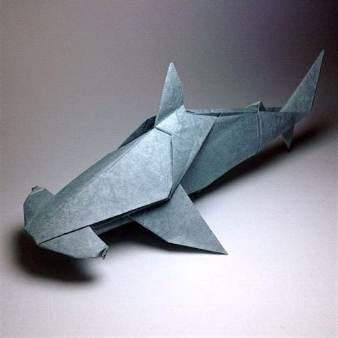 Origami Great White Shark - origami hammerhead shark origami ps