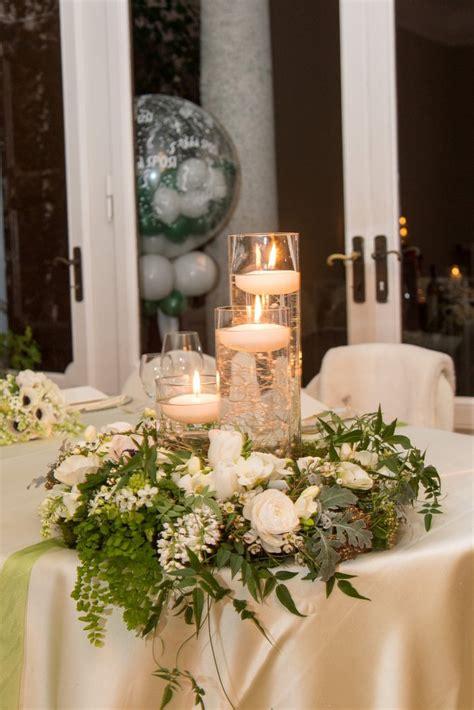 centrotavola matrimonio con candele e fiori centrotavola per matrimoni addobbi floreali per
