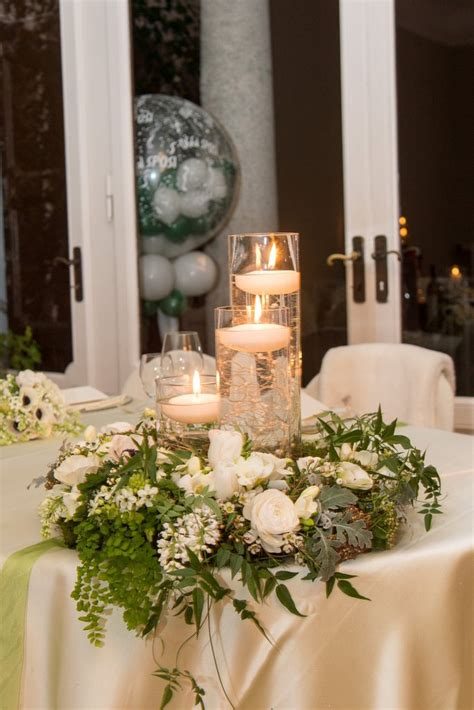 centrotavola per matrimonio con candele centrotavola per matrimoni addobbi floreali per