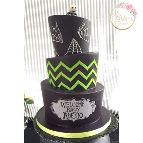 nightmare before christmas baby shower cake ms lola s
