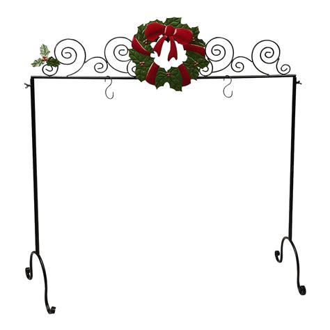 wreath freestanding christmas stocking holder christmas