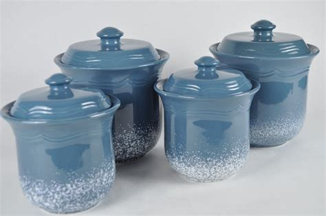blue kitchen canister set blue kitchen canister sets kenangorgun com