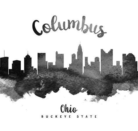 columbus ohio skyline 18 painting by aged pixel