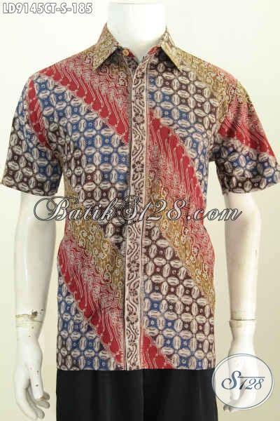 Elegan Pakaian Kemeja Batik Motif Melati agen pakaian batik modern jual kemeja lengan pendek motif elegan proses cap tulis
